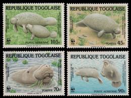 Togo 1984 - Mi-Nr. 1763-1766 ** - MNH - Seekuh / Manatee - Togo (1960-...)