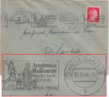 DR - (10) Halle 8 Academia Hallensis 1694-1944 Masch.werbestempel Brief - Brieven En Documenten