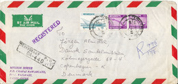Bangladesh Registered Air Mail Cover Sent To Denmark 17-6-1982 Topic Stamps - Bangladesch