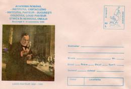 ROMANIA 1995: LOUIS PASTEUR, VIRUSOLOGY Unused Prepaid Cover 063/1995 - Registered Shipping! - Entiers Postaux