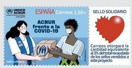 España. Spain. 2021. Sello Solidario. ACNUR Frente A La Covid-19 - 2011-... Nuovi & Linguelle