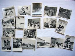 Lot De 18 Photos N&B Sénégal Divers Thèmes Famille Singes 2CV Chantiers Etc 9 X 12 Cm - Africa