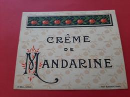 ETIQUETTE . N° 886 DEPOSE . DOUIN & JOUNEAU . PARIS / CREME DE MANDARINE  / DOS SCANNE - Non Classés