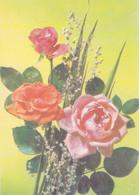 RUSSIE. ROSES ROSAS, FLEURS FLOWERS FLORES. ENTIER CIRCULEE  ANNEE 2019, ARGENTINE. AVEC RARE TIMBRE YVERT 1874,.- LILHU - Rosen