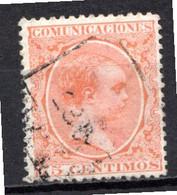 ESPAGNE (Royaume) - 1889-99 - N° 208 - 75 C. Orange - (Alphonse XIII (1886-1941)) - Usados