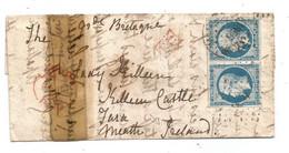 """- BOUCHES Du RHONE - MARSEILLE - Càd T.15 + PC.1896 SPaire TPND N°14 + """"PD""""rouge - 1858 VOIR - 1853-1860 Napoleone III"""