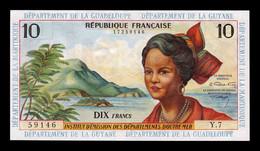 Antillas Francesas French Antilles 10 Francs 1964 Pick 8b SC-/SC AUNC/UNC - Autres - Amérique