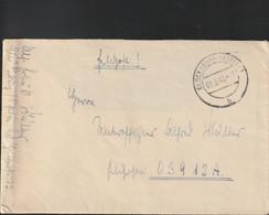 German Feldpost WW2: To Artillerie-Regiment 1 (Stab III) FP 03912A Posteed Glücksburg (Ostsee) 3.3.1943 - WW2 (II Guerra Mundial)