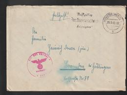 German Feldpost WW2: Luftnachrichten Regiment 2 Posted Münster (Westf) 29.5.1941 - Letter  (G132-18) - WW2 (II Guerra Mundial)