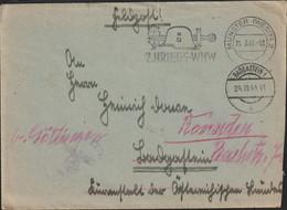German Feldpost WW2: Luftnachrichten Regiment 2 Posted Münster (Westf) 21.3.1941 - Letter - Rerouted In Badgastein - WW2 (II Guerra Mundial)