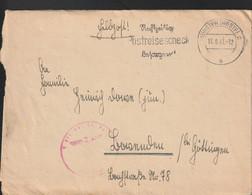 German Feldpost WW2: Luftnachrichten Regiment 2 Posted Münster (Westf) 13.8.1941 - Letter (G132-18) - WW2 (II Guerra Mundial)