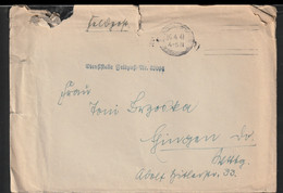 German Feldpost WW2: 1. Kompanie Leichte Radfahr-Strassen-Bau-Bataillon 503 FP 39004 Posted 16.4.1941 - Cover - WW2 (II Guerra Mundial)
