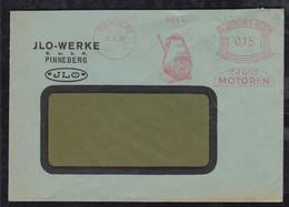 Deutsches Reich 1931 AFS 15Pf Meter Freistempler Brief Pinneberg ILO JLO Motoren - Covers & Documents