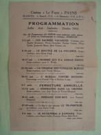 "PAYNS. AUBE. CINEMA ""LE FOYER"". PROGRAMMATION DE FILMS. JUILLET A OCTOBRE 1960.    100_2551GRT - Programas"