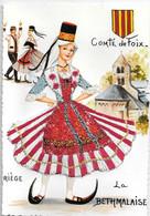 """Carte Brodée  """"  LA BETHMALAISE  Conté De Foix  """" - Borduurwerk"""