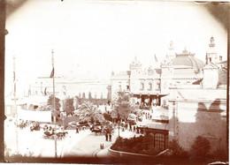 MONACO -- MONTE CARLO -- Photo Tirage Albuminé - Vintage Albumen Print Place Du Casino De Monte Carlo Circa 1892 - Anciennes (Av. 1900)