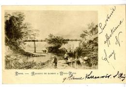 CHINE HONG KONG  AQUEDUC DE BAMBOU  -  EDITION VERS 1900 - Cina (Hong Kong)