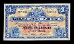 Escocia 1 Pound Union Bank Of Scotland Ltd. 31.5.1938 Pick S815c MBC VF - 1 Pound