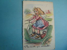 ILLUSTRATEUR - Germaine Bouret - V'la Cocotte Qui S'emballe!- M. D. Paris - Série 605 - Autres Illustrateurs