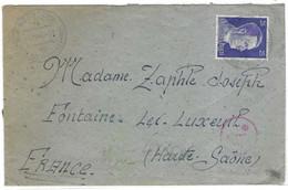1943 Enveloppe Nürnberg Nuremberg Allemagne / Censure /Prisonnier Camp M.A.N.Lager Baracke 16/4 / Altenfurth Uber Feucht - 1939-45