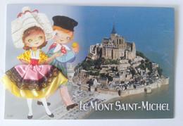 Carte Brodée Bretagne Le Mont Saint-Michel - Ricamate