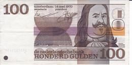 BILLETE DE HOLANDA DE 100 GULDEN DEL AÑO 1970  (BANKNOTE)  MICHIEL ADRIAENSZ - 100 Gulden