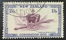 New Zealand 1953 SG 718 1/6d Coronation  Used - Used Stamps