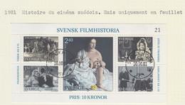 SUEDE USED YVERT BL 9 Cinéma Suédois - Blocks & Sheetlets