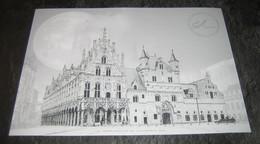 België 2021 Zwart-Wit Velletje   Pleinen Van Mechelen** / Places De La Ville De Malines. (en Noir Et Blanc) - Black-and-white Panes