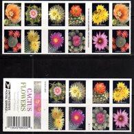 USA, 2018, MNH, PLANTS, CACTUS, CACTUS FLOWERS, BOOKLET - Sukkulenten