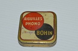 BOITE & AIGUILLES Pour PHONOGRAPHE PICK UP BOHIN Rouge Collection Gramophone XXe - Other