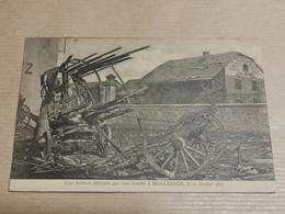Une Voiture Détruit Par Une Bombe à Hollerich 1917. Carte De Um Carnet - Altri