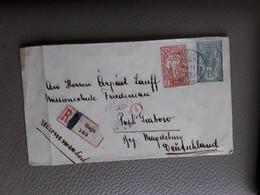 BRIEF AANGETEKEND  RECOMMANDE VAN BAJA NAAR MAGDEBURG DUITSLAND GERMANY - Interi Postali