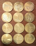 13 MARSEILLE LOT DE 12 MÉDAILLES SOUVENIR MONNAIE DE PARIS JETON TOURISTIQUE MEDALS COINS TOKENS - 2014