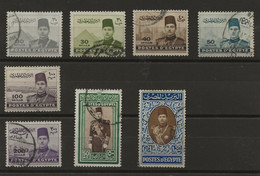 Egypt, 1939, SG 276 - 283, Complete Set, Used - Used Stamps