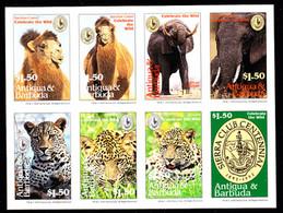 ANTIGUA (1994) Bactrian Camel. African Elephant. Leopard. Sierra Club Logo. Photographic Proof Of Minisheet Of 8. #1776 - Antigua E Barbuda (1981-...)