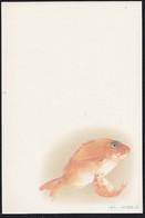 "JAPAN (1994) Goldfish. Beautiful 41 + 3 Yen Illustrated New Year Postal Card With ""MIHON"" (Specimen) Overprint. - Postkaarten"