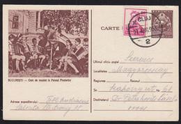 ROMANIA (1995) Accordion Band. Uprated 50 Bani Postal Card With Corner Photo. - Entiers Postaux