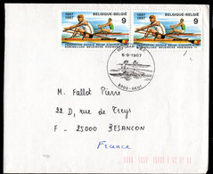BELGIUM (1987) Rowers. FDC With Thematic Cancel. Scott No 1276, Yvert No 2259. Royal Belgian Rowing Association. - 1981-90