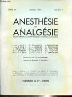 Anesthésie Et Analgésie, Tome XI, N°3 (octobre 1954) : L'hydergine En Neuro-chirurgie (L. Campan Et G. Lazorthes) - Hugu - Sciences