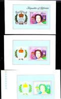 LIBERIA (1977) Queen Elizabeth Silver Jubilee. Set Of 7 Color Separations. Scott No C218,Yvert No BF86.. - Liberia