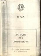 Rapport Des Commissions - Congrès D'Automne, 16-17 Novembre 1984 - Collectif - 1984 - Droit