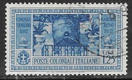 Italian Colonies Scott # 19 Used Garibaldi, 1932 - General Issues