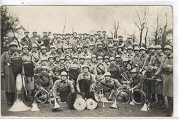 CPA, Carte Photo : Fanfare Militaire , 3 ème Génie (musique) ARRAS - Autres