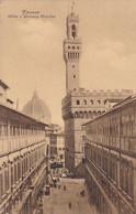 AK Firenze - Uffizi E Palazzo Vecchio (56798) - Firenze (Florence)