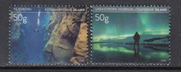 2019 Iceland Tourism Northern Lights Diving Complete Set Of 2 MNH @ BELOW Face Value - Unused Stamps