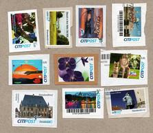 BRD - Privatpost - CITIPOST - Lot Von 10 Gebrauchten Marken - Privatpost