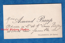 Carte De Visite Ancienne - VILLERSEXEL ( Haute Saone ) - Madame Armand BAUP - Histoire Généalogie - Visiting Cards