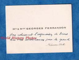 Carte De Visite Ancienne - NEMOURS ( Seine Et Marne ) - Monsieur & Madame Georges FERRANDON - Histoire Généalogie - Visiting Cards