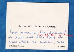 Carte De Visite Ancienne - ROUEN - Monsieur & Madame Jean COURBE - Histoire Généalogie - Visiting Cards